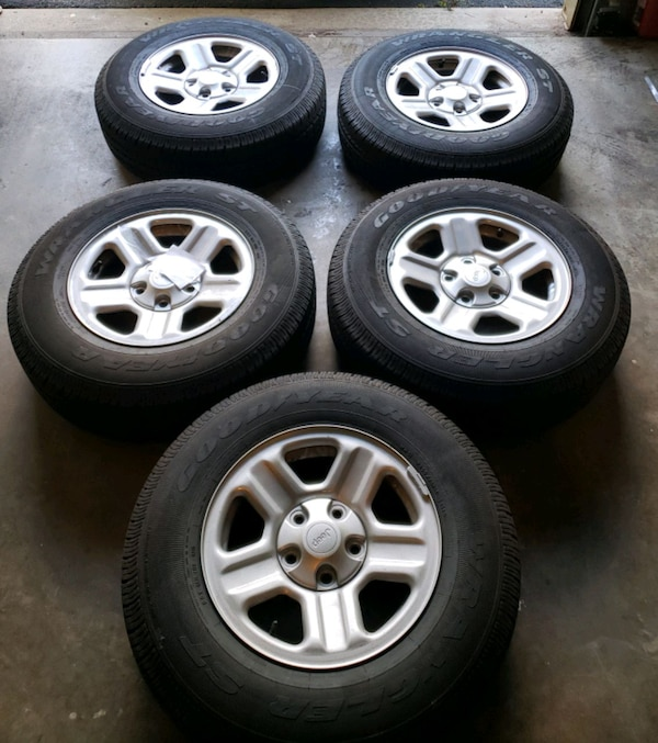 For Sale  5 Tires 225/75 R16 with the rims