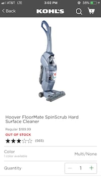 Hoover Hard Surface Cleaner 40 mi