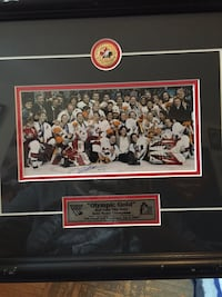 2002 Womans Gold Medal Team some wear on the frame signed by Cheryl Pounder comes with certificate of authenticity Toronto, M4C 5L3