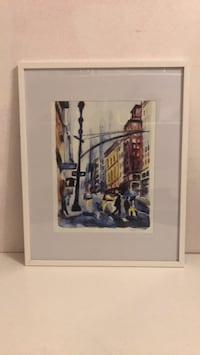 NYC streetscape abstract painting New York, 10040