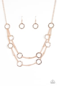 Yellow gold necklace with matching earrings  Longwood, 32779