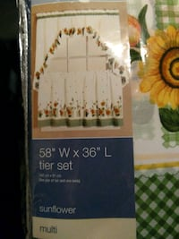 New kitchen curtains a set for ( 4 ) windows