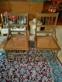 two brown wooden chairs Nelsonville, 45764