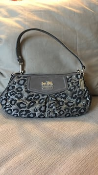 Coach ocelot black and metallic small purse