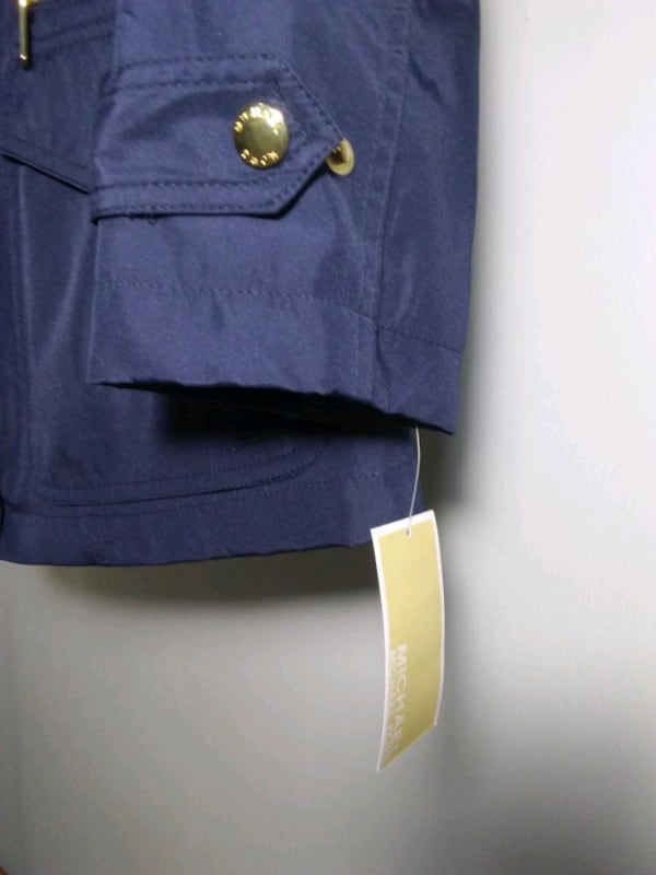 Michael Kors rain coat. Size S. Navy blue. New with tags. Retail $220. 9107a1b5-d119-47cb-9717-39b2c13dd1dd