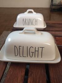 Rae Dunn Butter Dishes CHICAGO