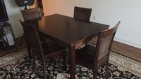 Really nice hardwood solid wood table and chairs.four chairs come with the set Waynesboro, 17268