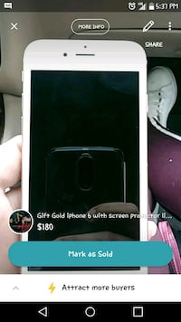 Iphone 6 like new with screen protection 275 mi