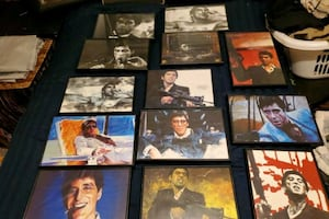 Gangster pic set-SCARFACE-Tony Montana framed picture collection