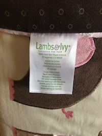Baby's Lamb and ivy crib bumper Barrie, L4N