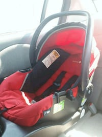 baby's red and black car seat carrier Montreal, H4L 3N2