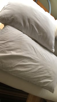 white and gray bed sheet Winnipeg, R3Y 1J3