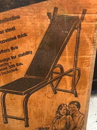 Vintage Flat Incline Exercise Bench New..