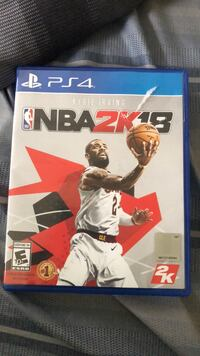 NBA 2K18 PS4 game case Rockville, 20853