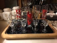 Various Wine,Champagne & Cordial stemware # 14 Pieces. Bear, 19701