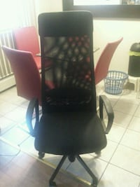 black and red rolling armchair Port Coquitlam