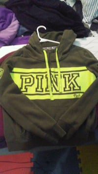 black and yellow Pink by Victoria's Secret hoodie