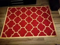 red and white quatrefoil area rug Bellevue, 98006