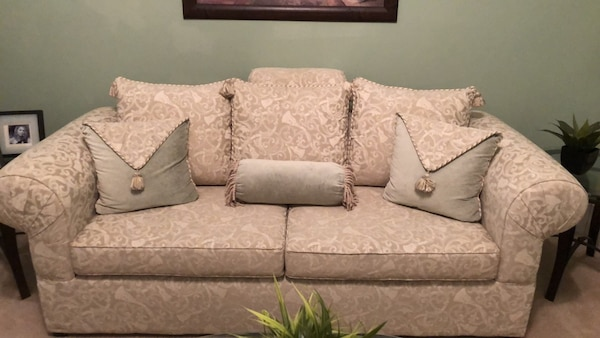 Italian style sofa and pillows