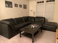 Black Leather Sectional Couch Falls Church, 22041