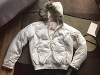 Ladies Ralph Lauren Polo Down Puffer Coat - Size XL - Color is Eggshell - This is new With Tags, but has 2 tiny spots on the front that may come out when washed. They are not real noticeable if not, but I wanted to point that out. The fur hood trim is als Raleigh, 27604