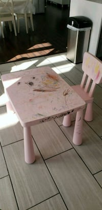 white and pink floral table with chairs Fairfax, 22033