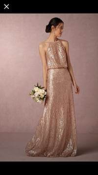Women's sequin rose gold sleeveless dress Houston