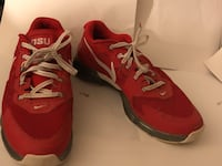 Pair of red nike running shoes Milford, 45150