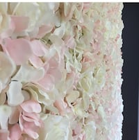 White and pink floral wall $250 plus  Toronto