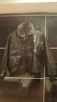 Original Armani Exchange black leather jacket  Mississauga, L5N 7Z2