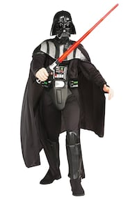 Dark Vader deluxe haloween costume only worn once and it lights up Surrey, V3S 2K2