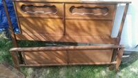 Vintage double headboard and footboard