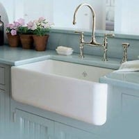 "BRAND NEW - Rohl RC3018WH Shaws 30"" Single Basin Farmhouse Fireclay Sink (white) Annandale"