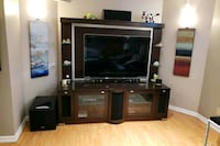 55 inch sharp 4 k with TV stand and cabinet  Caledon, L7E 2A9