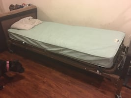 Electronic remote controlled hospital bed used