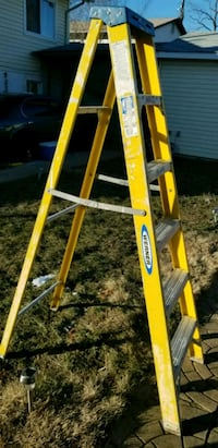 yellow and gray Werner a-frame ladder Lanham, 20706
