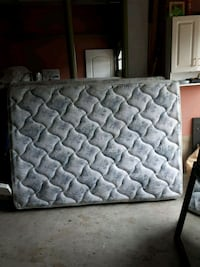 quilted white and gray floral mattress Toronto