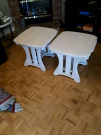 Solid ash End tables x 2 Vaughan