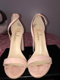 Blush pink lulus heels, size 5.5, worn once, in original box Dracut, 01826