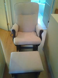 white and brown glider chair Laval, H7Y 2B3