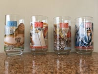 Vintage Star wars return of the jedi glass collection of four Parkville, 21234