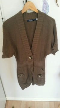 brun button-up cardigan 6241 km