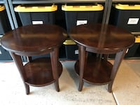 Pair of solud wood side tables Phoenix, 85048