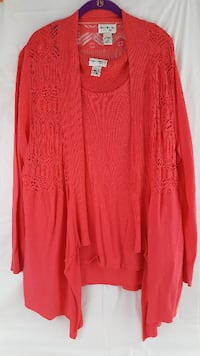 Tunic and Cardigan Set by Kate and Mallory Size 2X - New