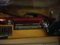 black and red car scale model