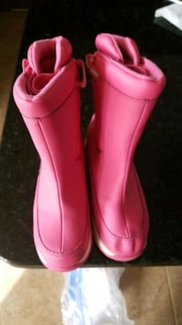 Girl's Lands' End pink winter boots Size 3 Libertytown