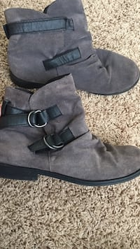 Gray booties size 9