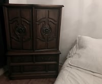 Wood antique armoire