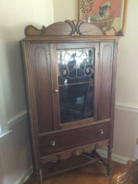 Brown wooden framed glass display cabinet Richmond, 40475