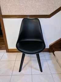 Dining Chair, black, padded